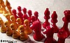 SOLD Bakelite Chess Set E.S. Lowe Company NY