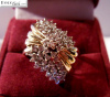 Ladies Yellow & White 14k Gold Ring w/ 55 Diamonds