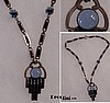 Blue Glass Deco Necklace
