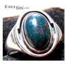 Kalo Bloodstone Art Deco Sterling Ring