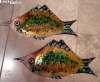 Pair of California Cloisonne Large Copper Fish Wall Art 1958
