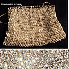 JOSEF Made in France Crystal Beaded Bag