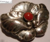 Georg Jensen Brooch #107 with Coral
