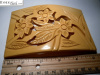 Extra Large Carved Bakelite Belt Buckle.