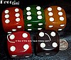 "Swirled Bakelite Dice 1 1/8"" (set of 5)"