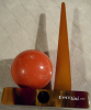 SOLD Trylon & Perisphere End of Day Bakelite Sharpener