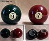 SOLD Billiard Ball Bakelite Salt & Pepper
