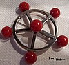 Red Bakelite Nautical Pin