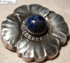 Georg Jensen Brooch #189 Sterling & Lapis
