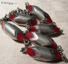 SOLD Red Galalith + Chrome Industrial Necklace