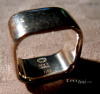 SOLD Georg Jensen Vintage Plaza Ring #186